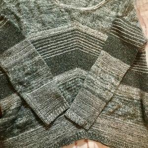 Women's EXPRESS Gray Fuzzy Sweater M Wool Mohair